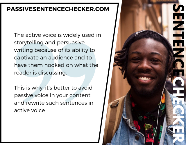 free passive voice corrector online